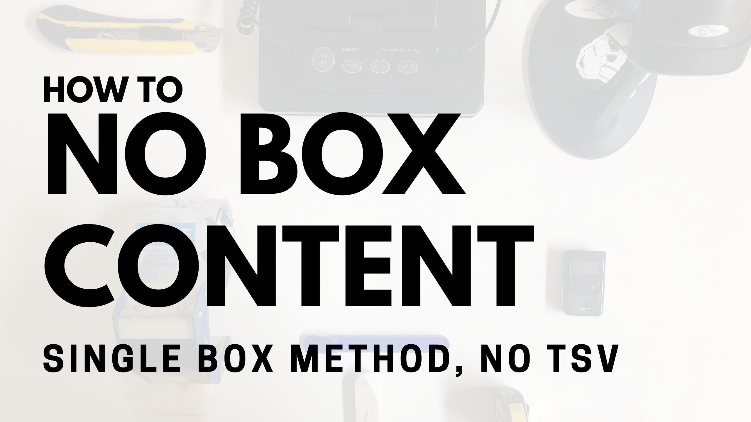 No Box Content Method Amazon FBA